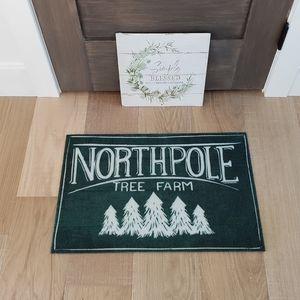 Christmas Tree farm Northpole rug w/ calendar